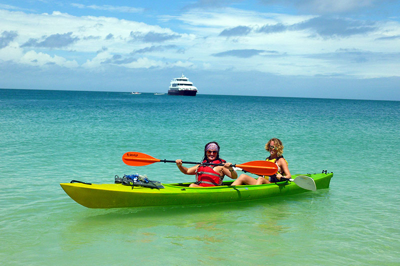Snorkel and kayak in the Panama exploration cruise