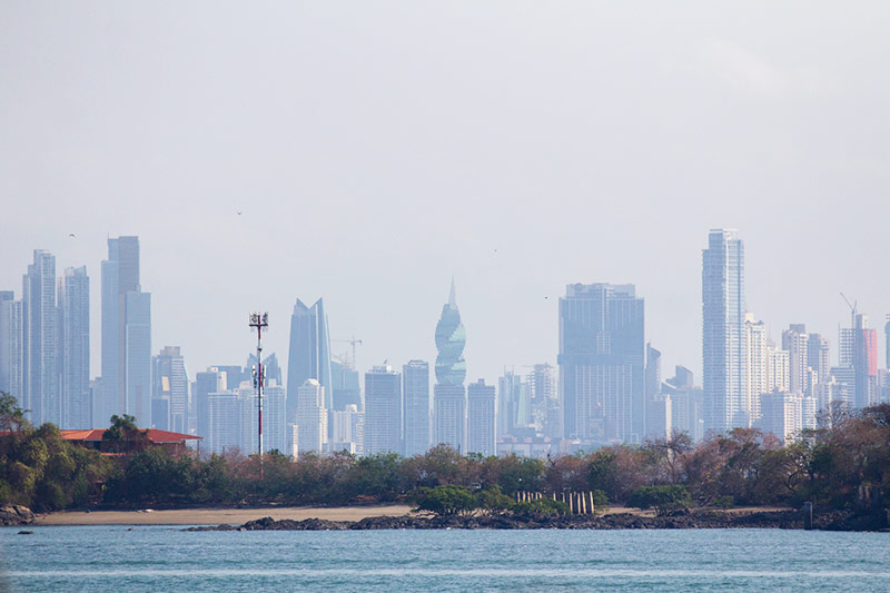 Panama City view from the Flamenco Marina