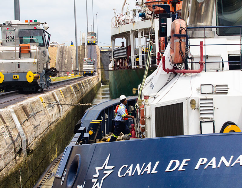 The Panama Canal has a work force of approximately 10 thousand employees