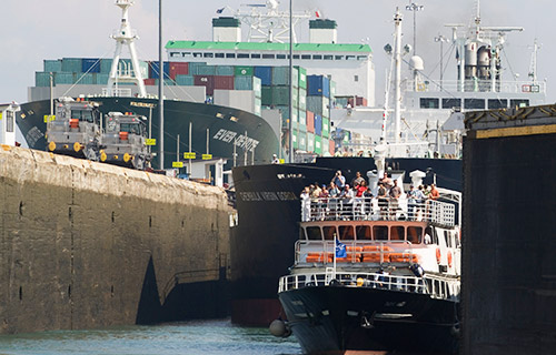 See the Panama Canal up close in operation onboard the Pacific Queen